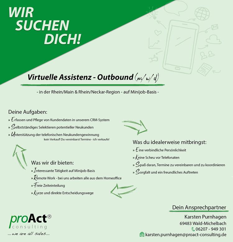 Virtuelle Assistenz Outbound (m/w/d) gesucht