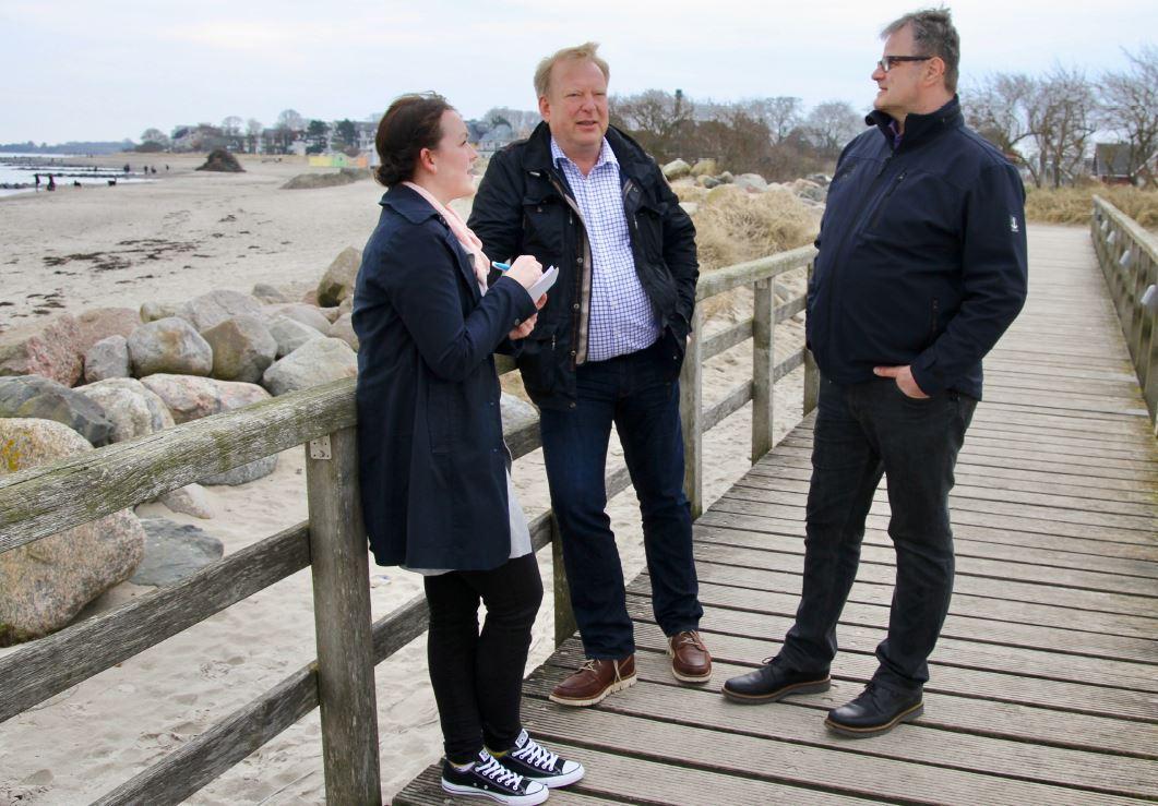 Tordis Stefan im Gespräch mit Nils Bohnes und Uwe Ebling